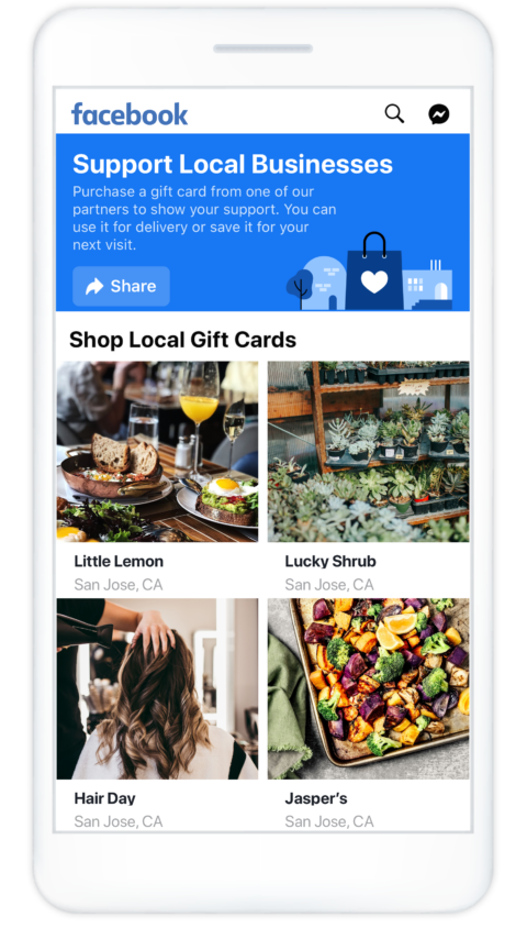 Facebook Gift Card Local Business Discovery - Four Peaks SEO