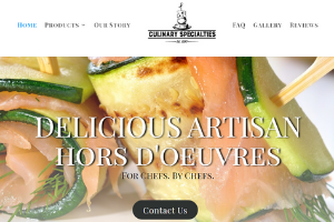 Latest Project - Culinary Specialties in Florida by Four Peaks SEO